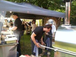 pizza catering bij food festival