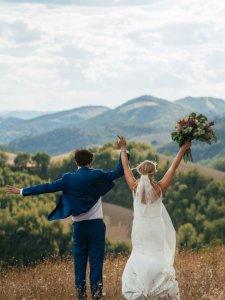 Landgoed Villa Marsi zojuist getrouwd koppel