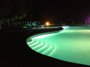 Villa marsi pool lights