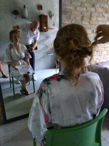 Villa marsi bruid met kapper