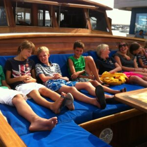 kids op de boot